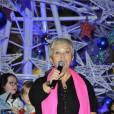 Mimie Mathy lors de l'inauguration des éclairages de Noël aux Halles à Paris en 2012.