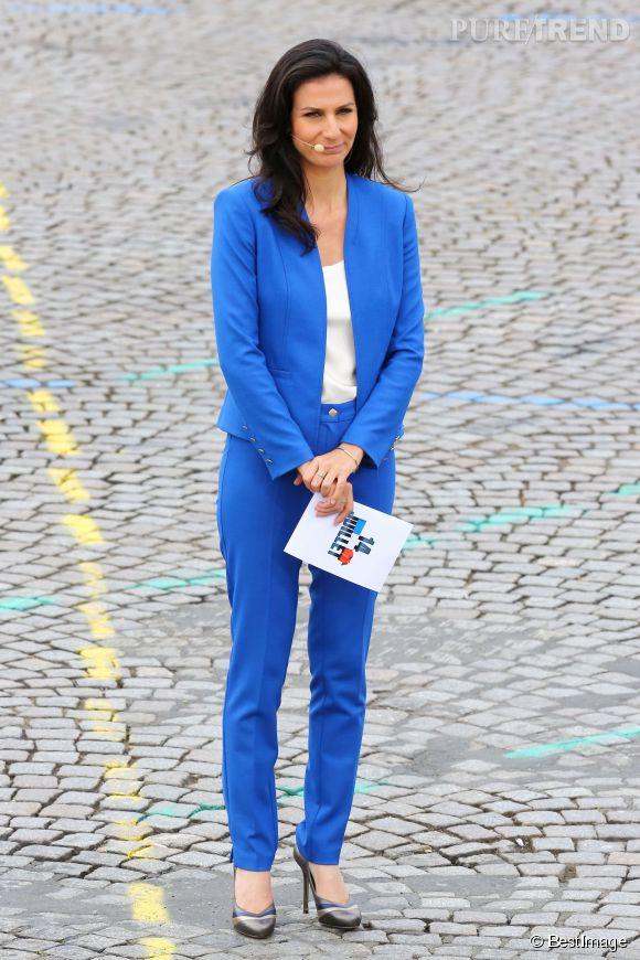 Marie Drucker a présenté le défilé du 14 juillet sur France 2.