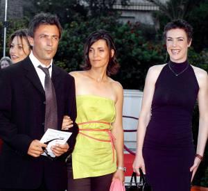 Frédéric Deban aux côté d'Adeline Blondieau et Bénédicte Delmas en juillet 2003.