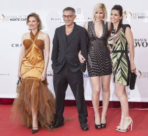 Frédéric Deban en juin 2013 avec Adeline Blondieau, Nadège Lacroix, Christine Lemler.
