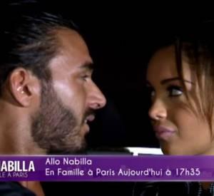 Nabilla et Thomas partagent un moment d'émotion dans l'épisode 15 de Allô Nabilla : ma famille à Paris.