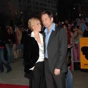 """David Duchovny et sa femme Tea Leoni à la Première de """"House Of D"""" à New York en 2005."""