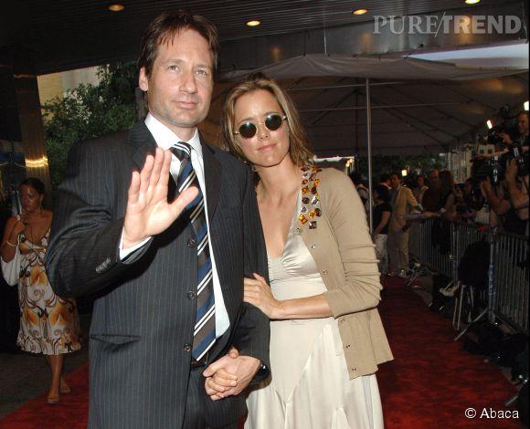 """David Duchovny et Tea Leoni en 2006 lors de la Première de """"Trust The Man"""" à New York : un couple encore inséparable."""
