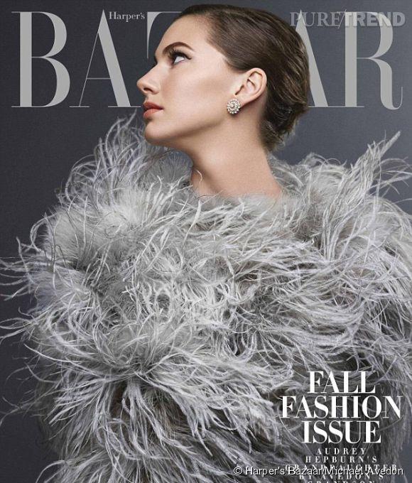 Emma Ferrer, la petite-fille d'Audrey Hepburn fait la couverture de l'édition abonnés du September Issue du  Harper's Bazaar US .