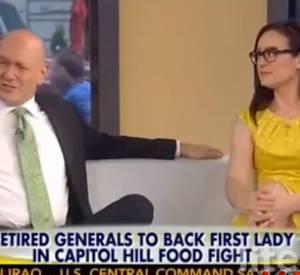Pour le monsieur à la bedaine, Michelle Obama est trop grosse pour donner des conseils en matière de nutrition...