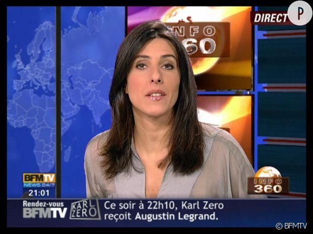 Nathalie Levy officie à l'antenne de BFM TV.