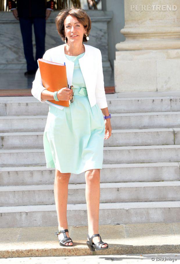 S gol ne royal christiane taubira les looks des for Robes blanches simples pour le mariage de palais de justice