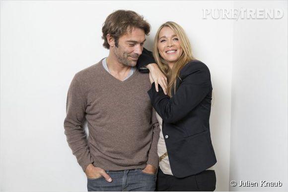 """Patrick Puydebat et Hélène Rollès, le couple culte de """"Hélène et les garçons""""."""