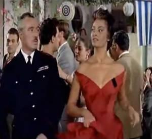"""Sofia Loren et Vittorio De Sica dans le film """"Pain, amour, ainsi soit-il""""."""