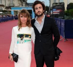 """Axelle Laffont et son boyfriend Cyril Paglino lors de la première de """"The November Man"""" durant le Festival du Cinéma Américain de Deauville le 11 septembre 2014."""
