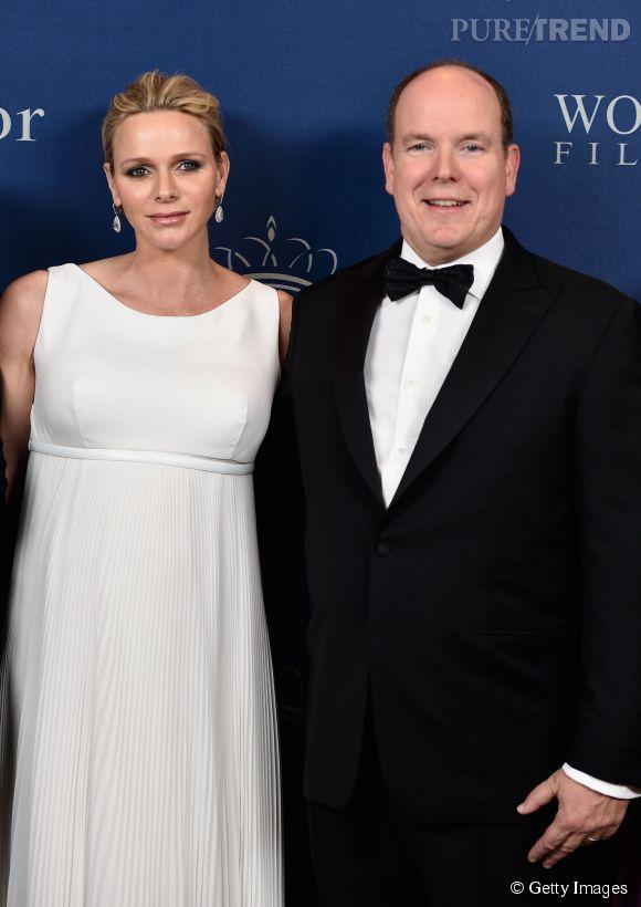 Charlene et Albert de Monaco lors du gala organisé pour célébrer les Princess Grace Awards 2014 le 8 octobre 2014 à Beverly Hills.