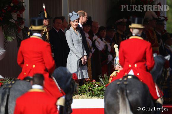 Kate Middleton a accompagné le prince William pour un évènement officiel en l'honneur du président de la République de Singapour.