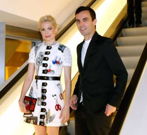 Michelle Williams et Nicolas Ghesquière à l'inauguration de la Fondation Louis Vuitton, ce lundi 20 octobre 2014.
