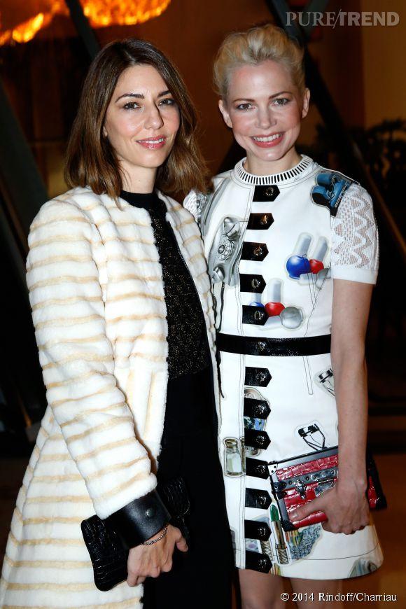 Sofia Coppola et Michelle Williams à l'inauguration de la Fondation Louis Vuitton, ce lundi 20 octobre 2014.