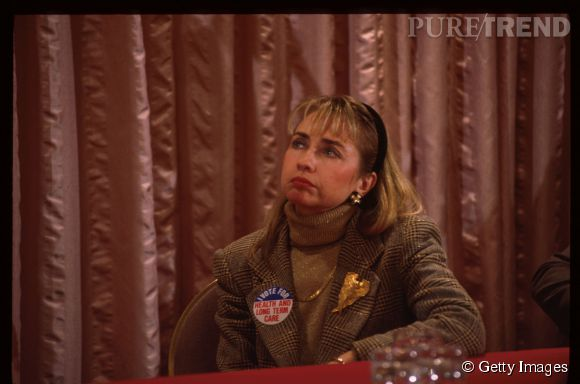 Hillary Clinton, l'évolution de l'emblématique First Lady des États-Unis.