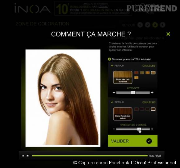 exprience inoa la premire application pour tester une coloration - Simulation Coloration