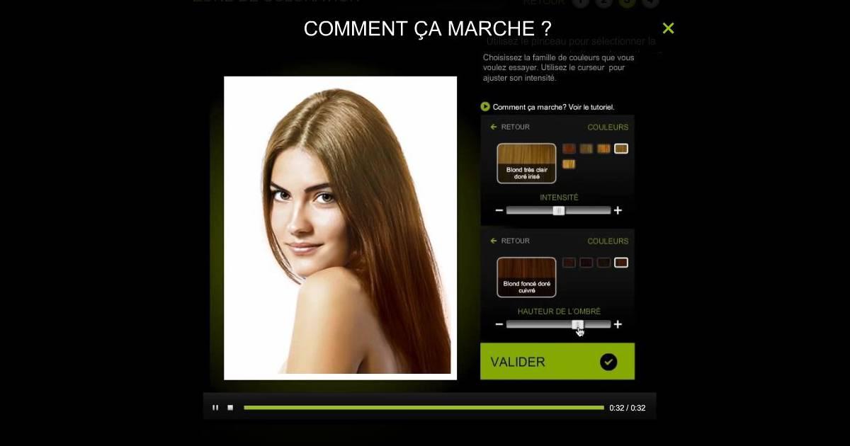 cheveux tester une nouvelle couleur avec lappli inoa loral professionnel - Nuancier Inoa Coloration
