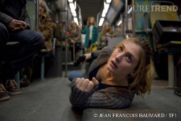 """Julie Gayet dans l'épisode quatre de la cinquième saison de """"Profilage"""", série diffusée sur  TF1 ."""