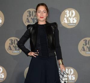 Audrey Dana en total look noir à la soirée des 30 ans de Canal+ au Palais de Tokyo à Paris le 4 novembre 2014.