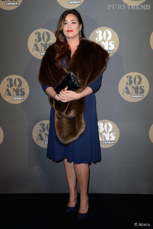 Lola Dewaere sort le grand jeu à la soirée des 30 ans de  Canal+  au Palais de Tokyo à Paris le 4 novembre 2014.