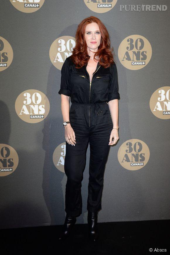 Audrey Fleurot mise également sur une combi à la soirée des 30 ans de  Canal+  au Palais de Tokyo à Paris le 4 novembre 2014.
