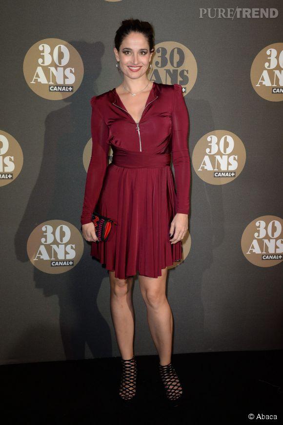Marie Gillain et sa petite robe patineuse à la soirée des 30 ans de  Canal+ .