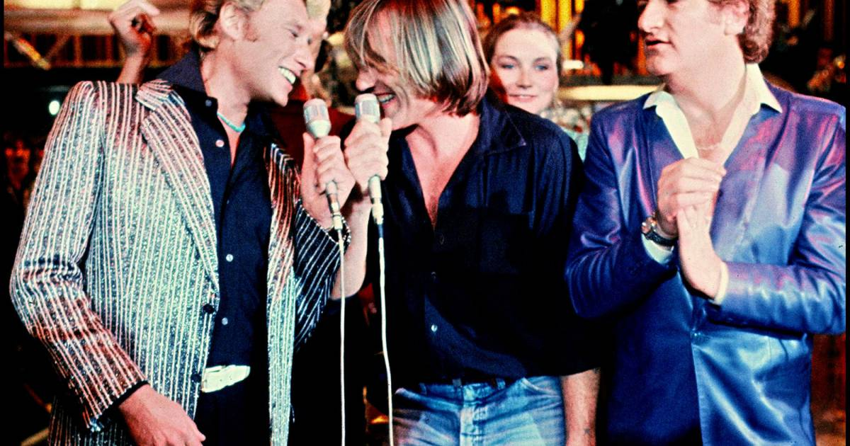 Johnny Hallyday G 233 Rard Depardieu Et Eddy Mitchell Sur Le