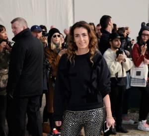 Mademoiselle Agnès a fait sensation dans son pantalon petits poids lors du défilé Louis Vuitton Automne-Hiver 2014/2015.
