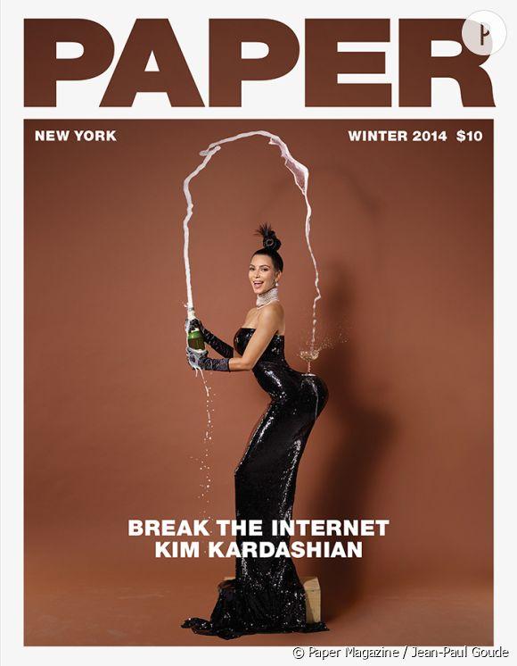 Kim Kardashian en couverture du numéro hivernal de Paper Magazine.