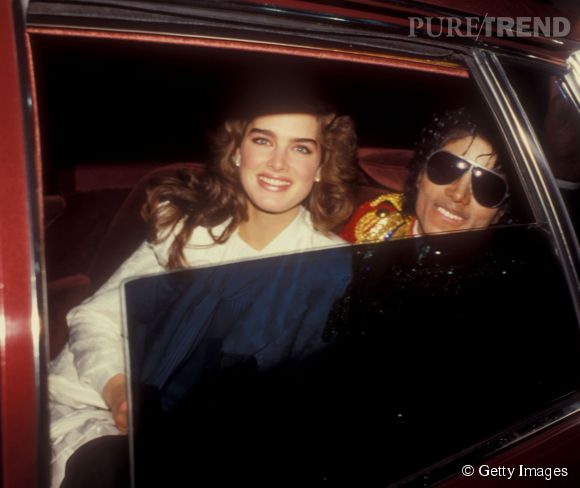Brooke Shields en 1984 :  avec le King of Pop, l'actrice rayonne.