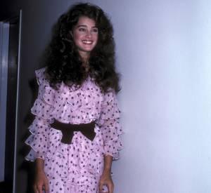 Brooke Shields en 1981 : ah l'amour des robes parme !
