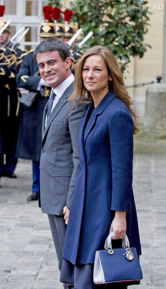 Manuel Valls et Anne Gravoin, le couple le plus glamour du Gouvernement.