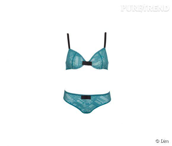 Ensemble Sublim de Dim, soutien-gorge 19,90€ et culotte 11,90€.