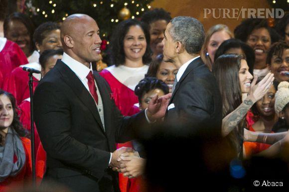 The Rock était aussi présent à la soirée de Noël.