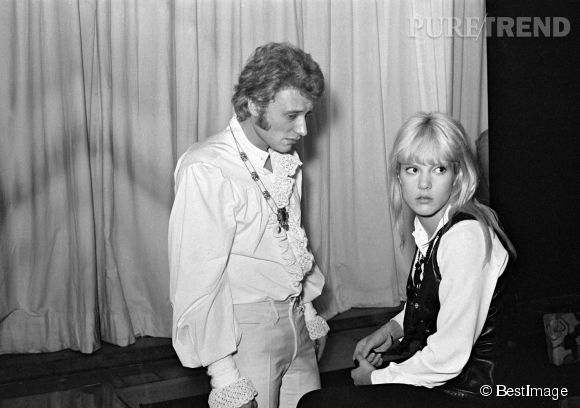 Couple phare des yéyé, Johnny Hallyday et Sylvie Vartan, photographiés en 1967.