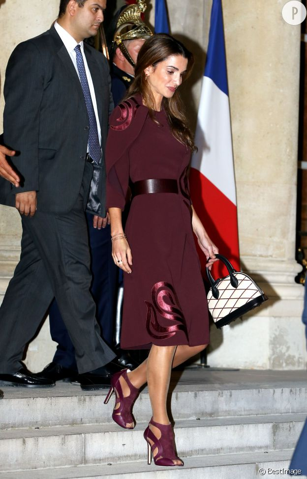 La reine Rania de Jordanie, invitée à l'Elysée le 17 septembre dernier.