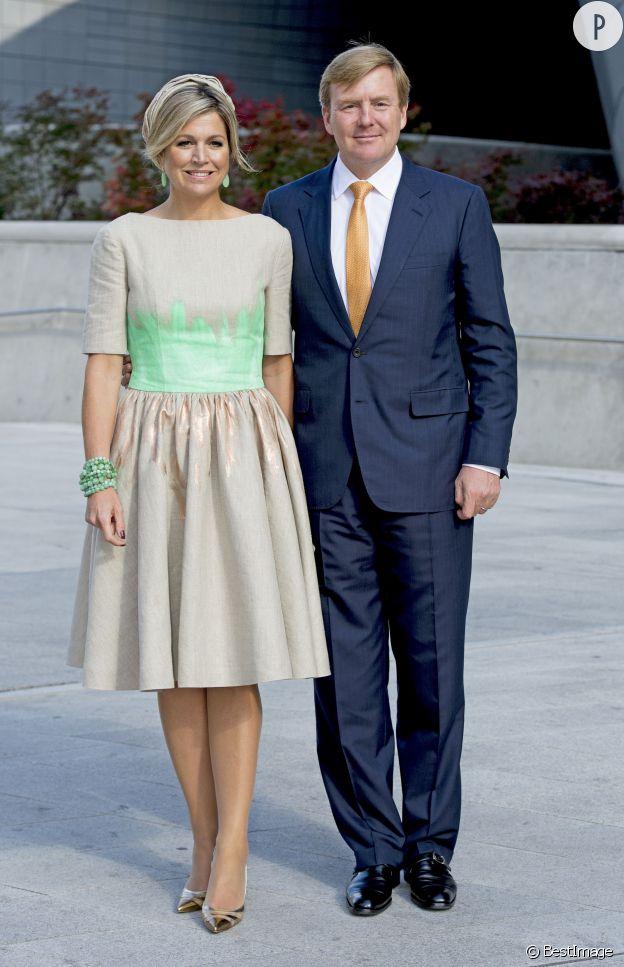 La reine Maxima aux côtés de son époux, le roi Willem Alexander des Pays-Bas.