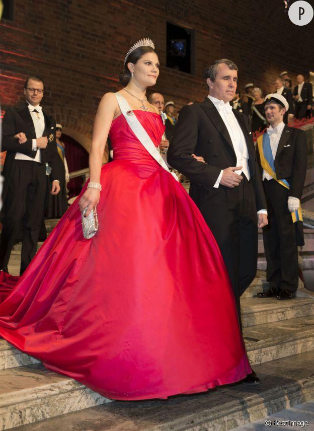 La princesse Victoria de Suède dans sa robe de gala, en novembre dernier.
