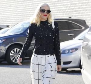 Gwen Stefani : Total look black & white avec son homme !