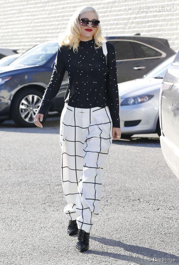 Gwen Stefani : tendance en total look black & white !