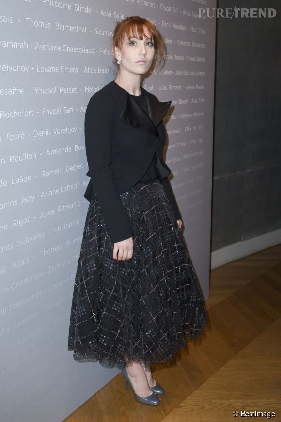 Lolita Chammah, beauté envoutante au dîner des révélations des César, le 12 janvier 2015.