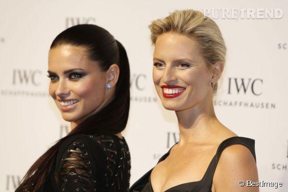 Karolina Kurkova et Adriana Lima : deux beautés pour le prix d'une sur tapis rouge !