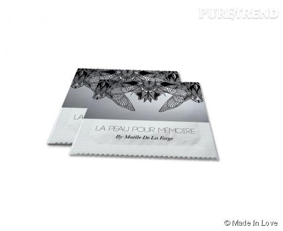 Des motifs organiques s'invitent sur l'emballage des préservatifs Made In Love.