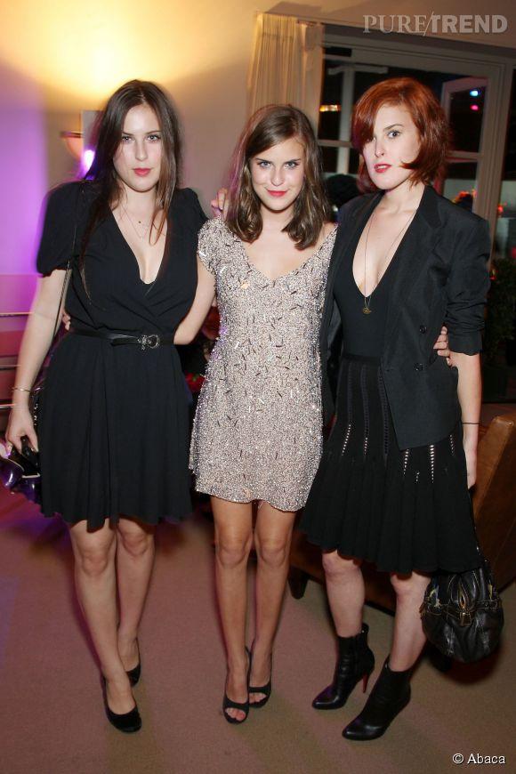 Scout LaRue, Tallulah et Rumer, les trois filles de Bruce Willis et Demi Moore en 2008.