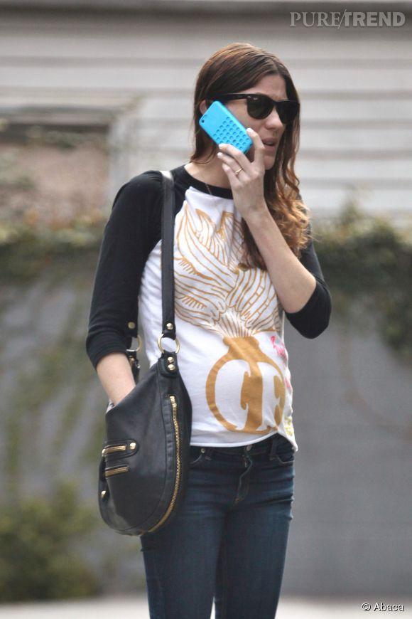 Jennifer Carpenter et son baby bump déjà bien visible.