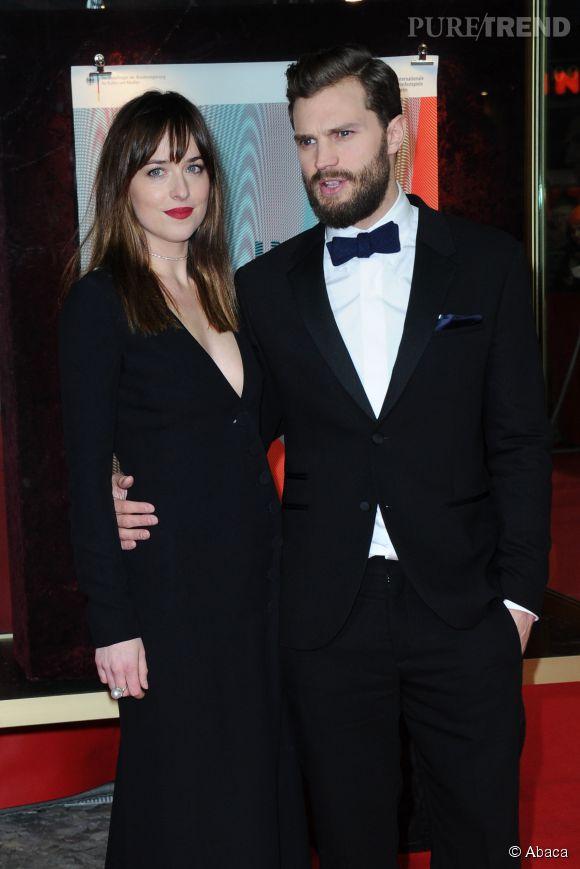 """Dakota Johson et Jamie Dornan à la première de """"50 nuances de Grey"""" à Berlin le 11 février 2015."""