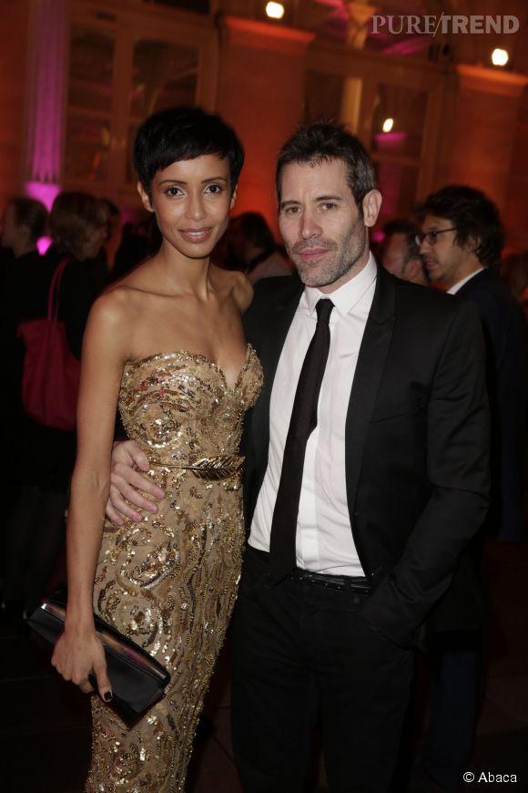 Sonia Rolland et Jalil Lespert, couple amoureux aux Trophées du film français, le 12 février 2015.