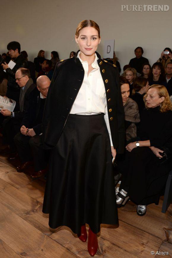 Olivia Palermo au défilé Michael Kors Automne-Hiver2015/2016à New York le 18 février 2015.