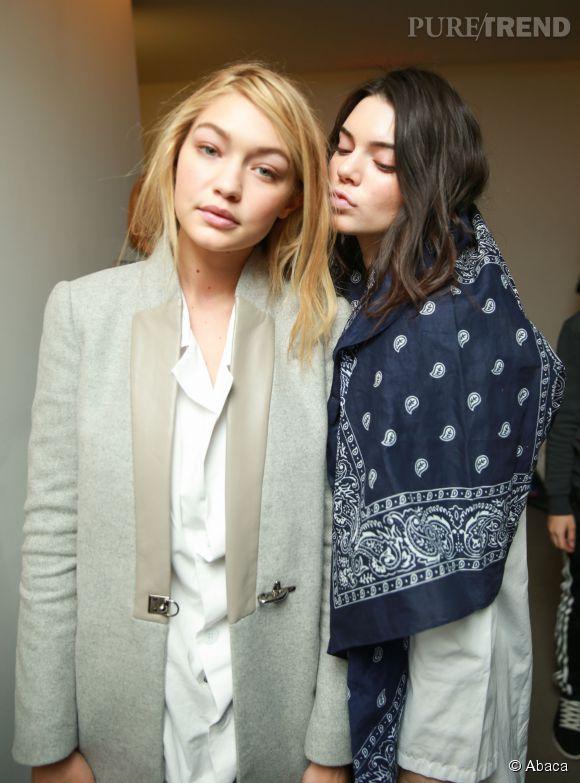 Kendall Jenner et Gigi Hadid, deux top complices...et bien seules face aux critiques.