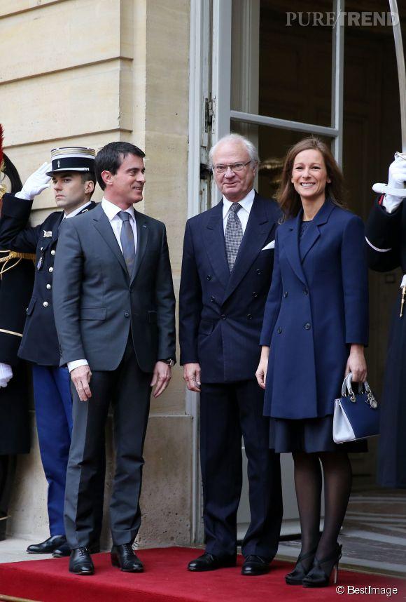 Anne Gravoin, aux côtés de son époux pour des évènements officiels.